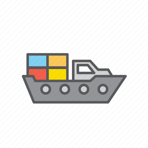 cargo, delivery, logistic, ship icon