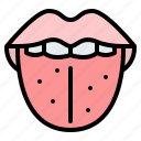 tongue, organ, mouth, dental icon