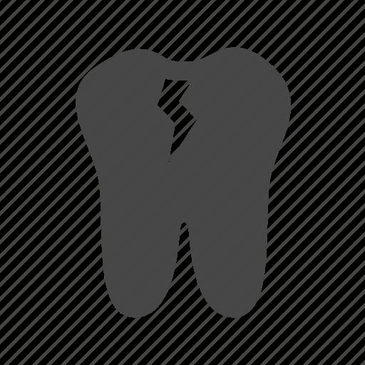 broken, dental, health, tooth icon
