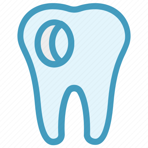 caries, dental, dentist, hole, stomatology, tooth icon