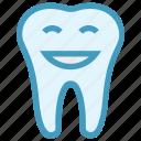 cartoon, dental, dentist, healthcare, smiley, tooth icon