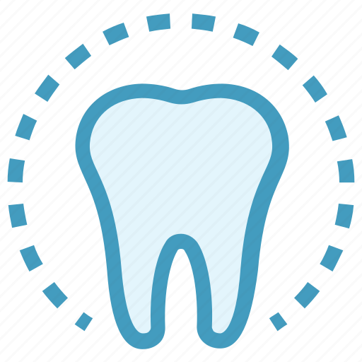 circle, dental, dentist, health, molar, tooth icon