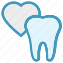 care, dental, heart, love, stomatology, tooth icon