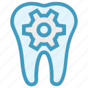 dental, dental care, dentist, gear, service, tooth icon