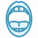 clean teeth, dental, dentist, oral, oral hygiene, tongue icon