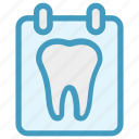 board, dental, list, stomatology, teeth, test icon