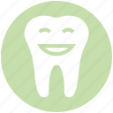 cartoon, healthcare, dentist, smiley, tooth, dental