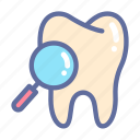 dental, dentist, medical, oral, search, tooth icon