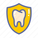 dental, dentist, medical, oral, protection, shield, tooth icon