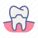crown, dental, dentist, medical, oral, tooth icon