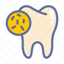 bacteria, dental, dentist, medical, oral, tooth icon