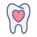 dental, dentist, love, medical, oral, tooth icon