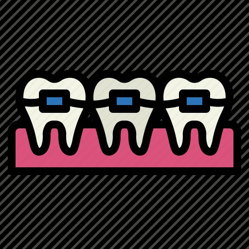 Braces, dental, medical, mouth icon - Download on Iconfinder