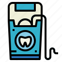 dental, dentist, floss, hygiene icon
