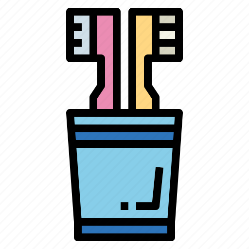 Clean, glass, hygienic, toothbrush icon - Download on Iconfinder