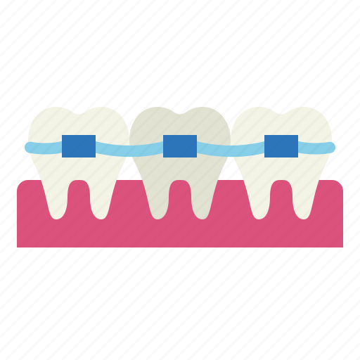 braces, dental, medical, mouth icon