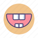 baby teeth, teeth, tooth icon