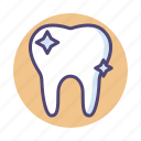 clean teeth, dental, dentist, hygenic, tooth icon