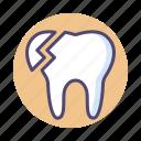 broken tooth, chipped tooth, dental, dentist