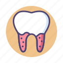 calculus, dental, dental calculus, tooth icon