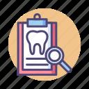 checkup, dental, dental checkup, dental records icon