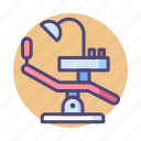 chair, dental chair, dentist, dentist chair icon