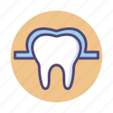 dental, dentist, enamel, tooth, tooth enamel icon