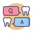 answer, consulting, dental, forum, question icon