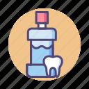 dental, mouthwash, rinse, solution icon
