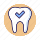 dental, dental checkup, perfect tooth, teeth checkup icon