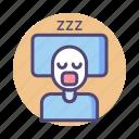 asleep, sleep, sleeping, slept, zzz icon