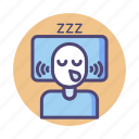 passed out, sleeping, slept, snore, snoring icon