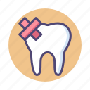 tooth, toothache icon