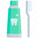 care, clean, dentist, health, protection, toothbrush, toothpaste icon