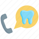 call center, customer, dental, operator, phone, service, support icon