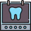 clinic, dental, dentist, doctor, medical, radiology, x-ray icon