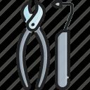 care, dental, dentist, equipment, hygiene, medical, tool icon