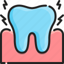 dental, health, hurt, pain, painful, problem, toothache icon
