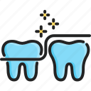 care, clean, dental, floss, health, hygiene, tooth icon