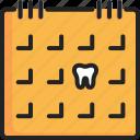 appointment, calendar, date, dental, organizer, reminder, schedule icon