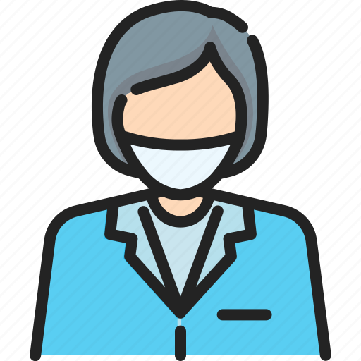 clinic, dental, dentist, doctor, medical, professional, woman icon