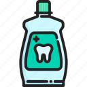 clean, dental, fresh, hygiene, liquid, mouthwash, tooth icon