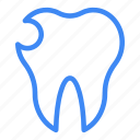 broken, dental, medical, oral, teeth icon