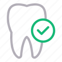 check, complete, dental, oral, teeth icon