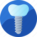 artificial, dental, dentistry, implant, medical, root, treatment icon