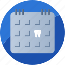 appointment, calendar, date, dental, organizer, reminder, schedule icon