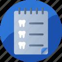 agenda, appointment, dental, list, organizer, reminder, schedule icon