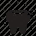 dental care, dentist, health, polishing, tooth, veneer, whitening icon