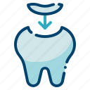 dental care, dental fillings, dentist, filling, health, orthodontic, tooth icon