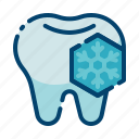 cold, dental care, dentist, freezing, health, reaction, tooth icon